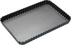 Viereckige Kuchenform mit Wellenrand